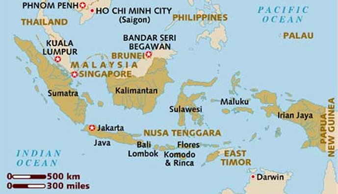 Map of the Indonesian Archipelago