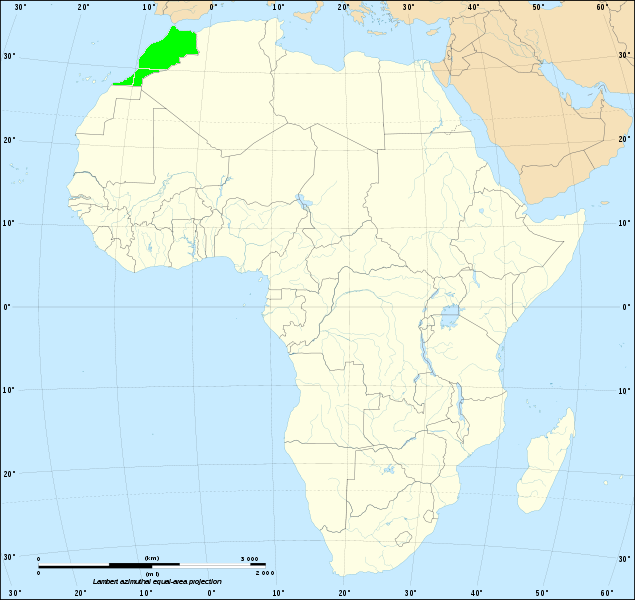 Location of Morocco